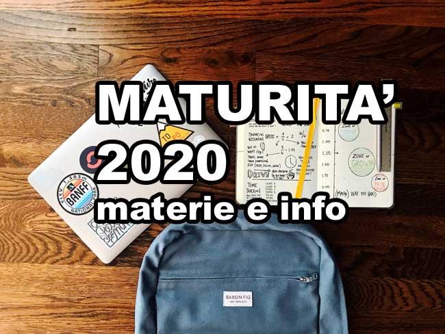 esame maturità 2020